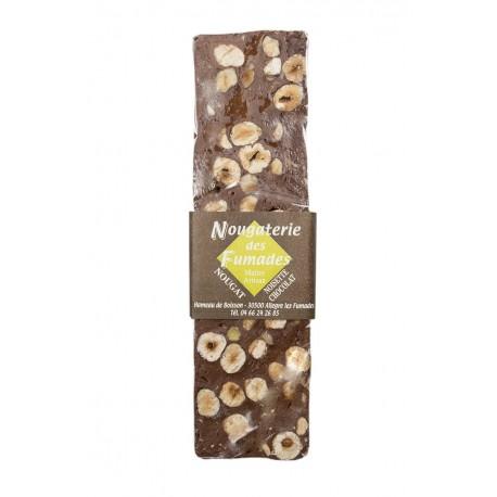 Nougat au chocolat noir et aux noisettes