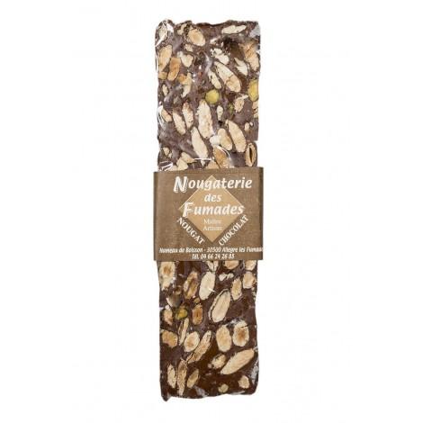 Nougat au chocolat noir et aux amandes