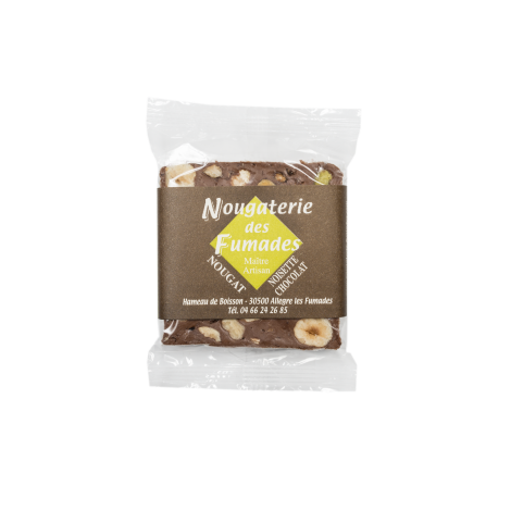 Nougat Chocolat Noir et Noisettes 50gr