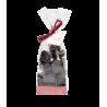 Bonbons de Nougat enrobés de chocolat noir 125gr
