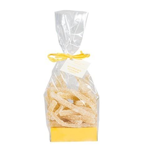 Écorces de citron confites